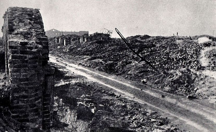 Gęsia_Street_in_Warsaw_after_the_war