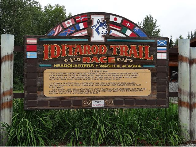 iditarod trail sign